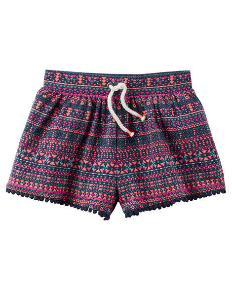 Conjunto Blusinha Pink e Shorts Colorido | CARTER'S