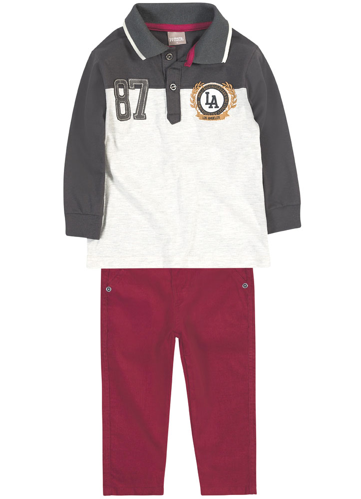 Conjunto Camisa Polo e Calça Veludo | BRANDILI