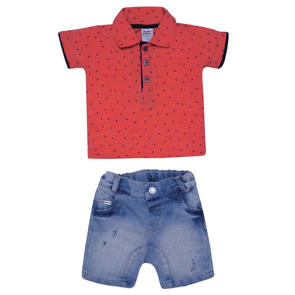 Conjunto Camisa Polo e Shorts Jeans Colours | SONHO MAGICO