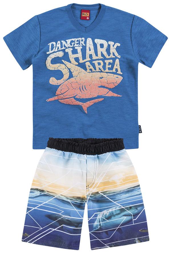 Conjunto Camiseta e Shorts Shark Area | KYLY