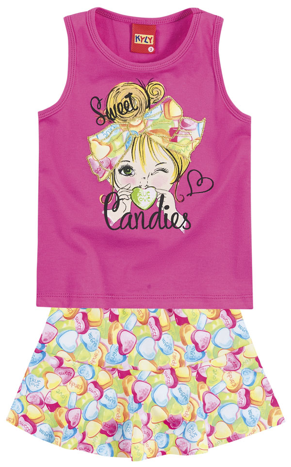 Conjunto Camiseta e Shorts Sweet Candies | KYLY