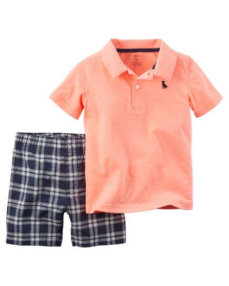 Conjunto Camiseta Polo e Bermuda Dog | CARTER´S