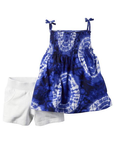 Conjunto de Bata e Shorts Blue | CARTER´S
