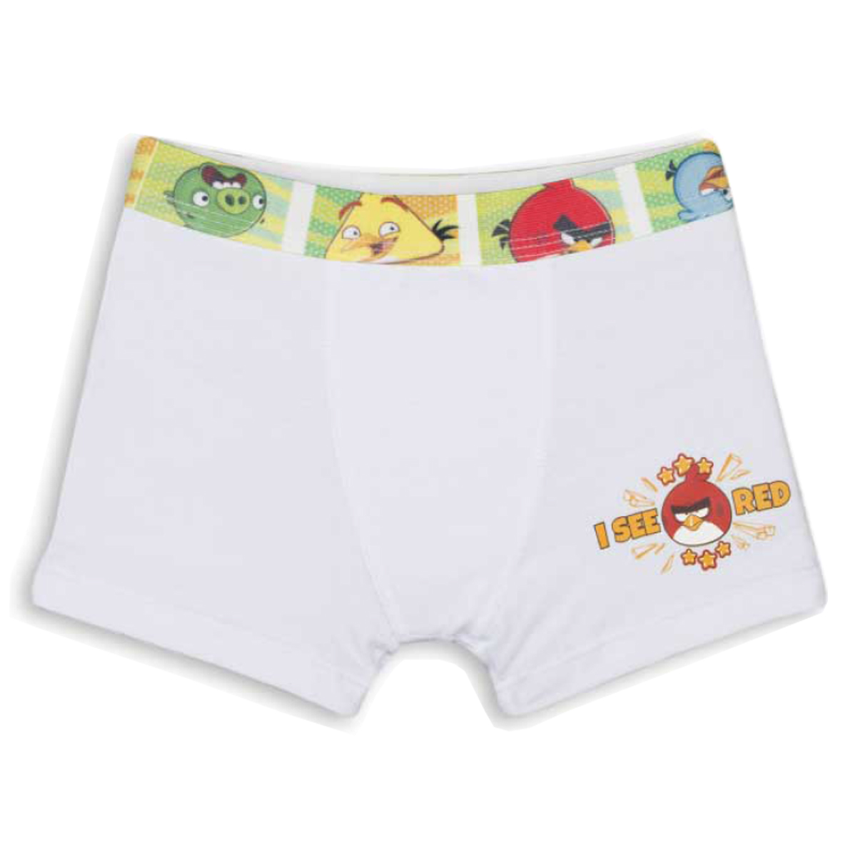 Cueca Boxer Angry Birds Branca | LUPO