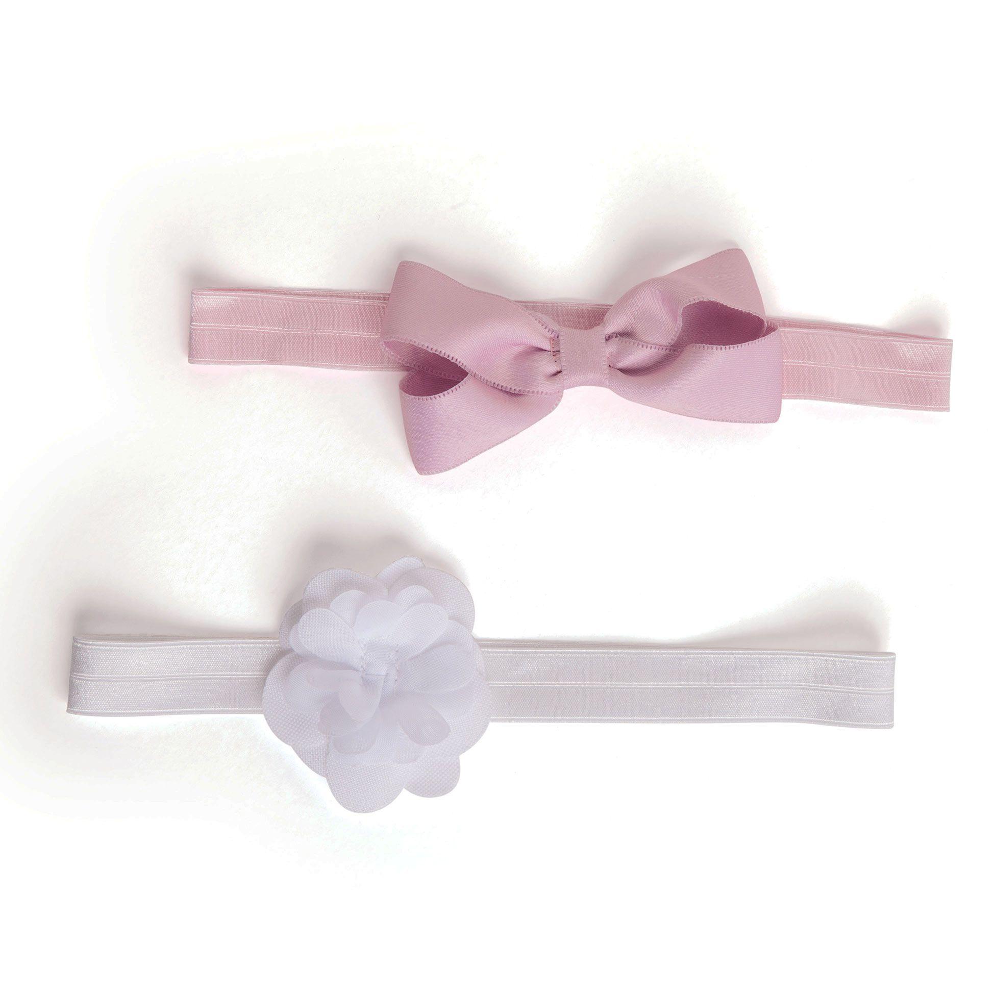 Duopack Faixa de Cabelo Branco e Rosa (0-12 meses) | PUKET