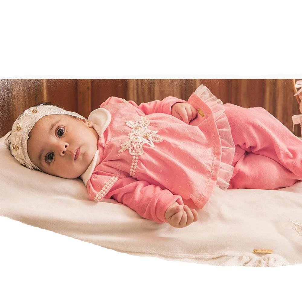 Kit Saída de Maternidade de Plush Flower And Pearls | SONHO MÁGICO