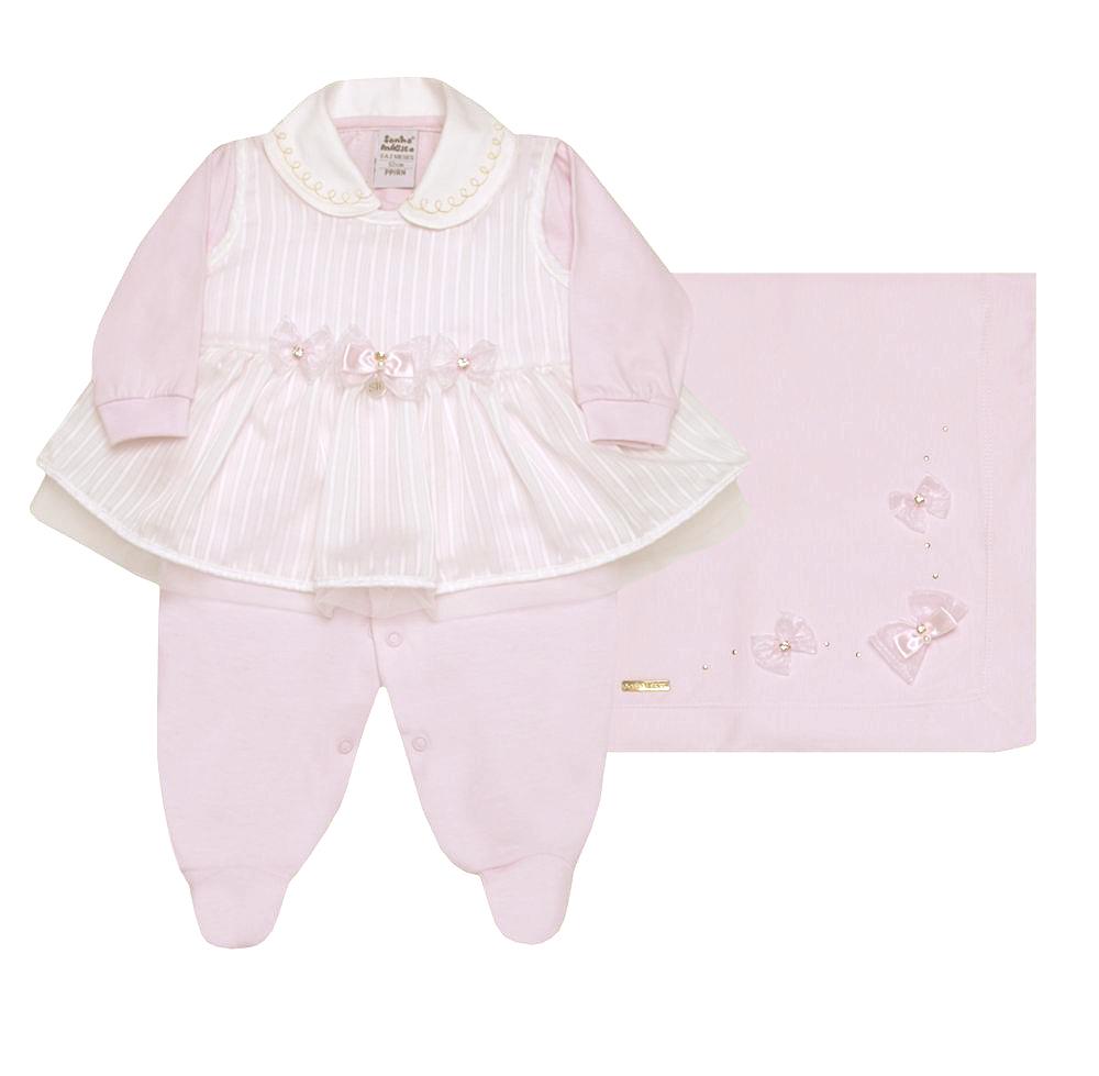 Kit Saída de Maternidade Little Princess Rosa Claro | SONHO MÁGICO