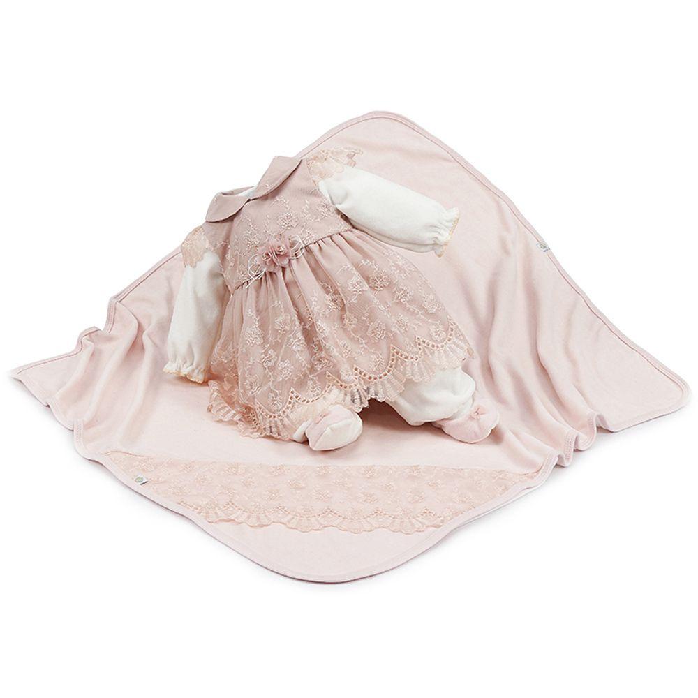 Kit Saída de Maternidade Plush Duda Nude | BETH BEBÊ