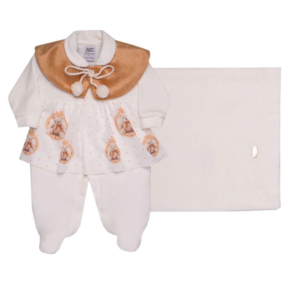 Kit Saída de Maternidade Plush Ursinha | SONHO MÁGICO