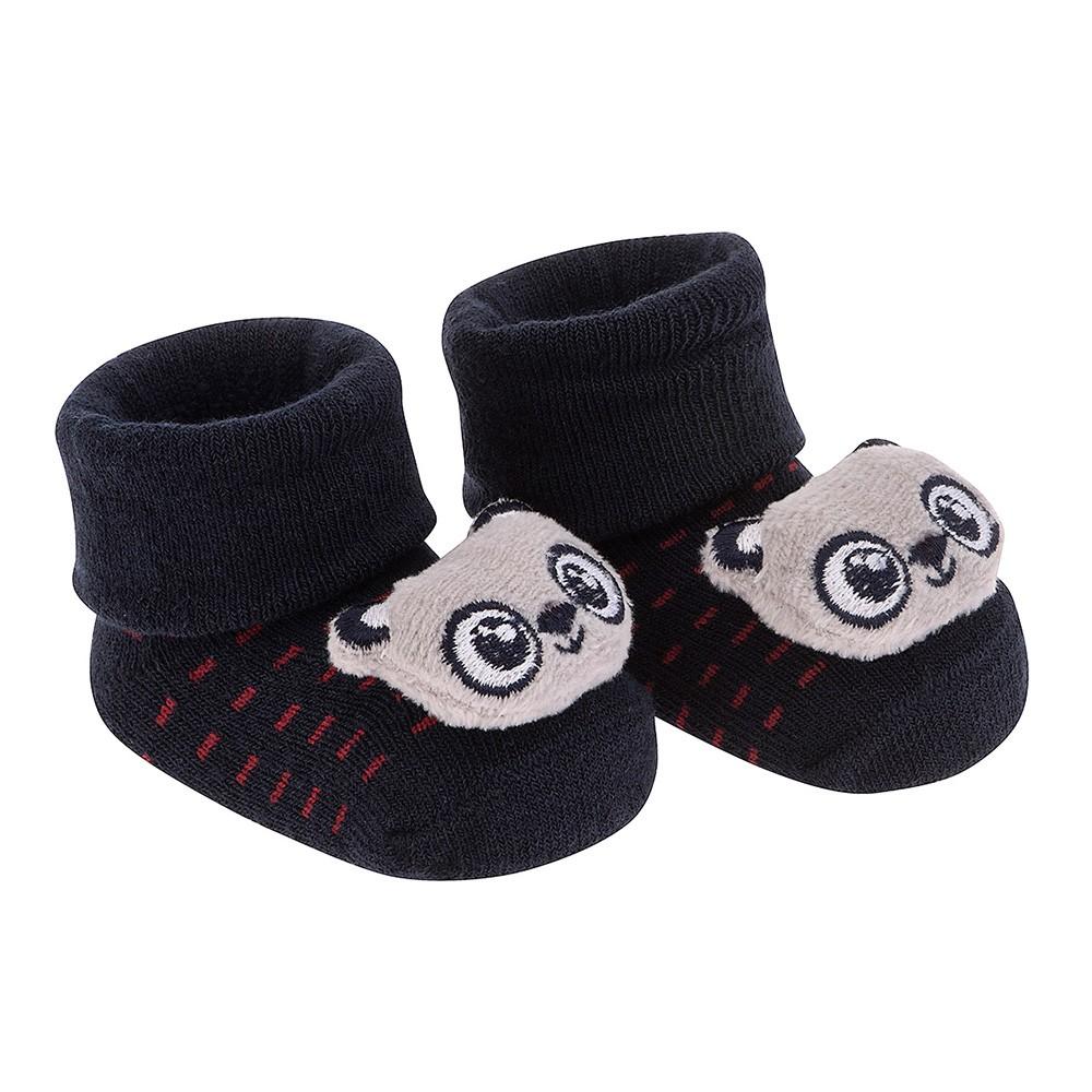 Meia Bichinho Panda Marinho   PIMPOLHO