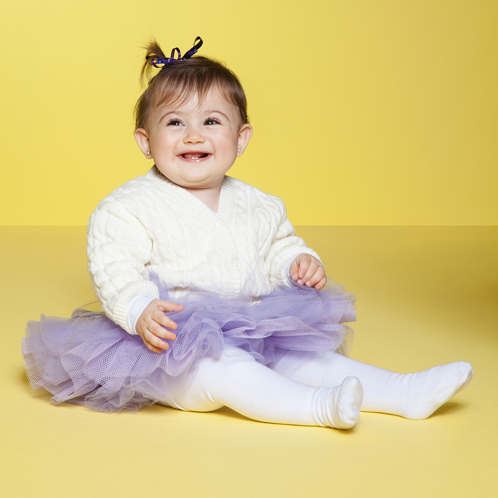 Meia Calça Baby Lisa Branca (0-12 meses) | PUKET