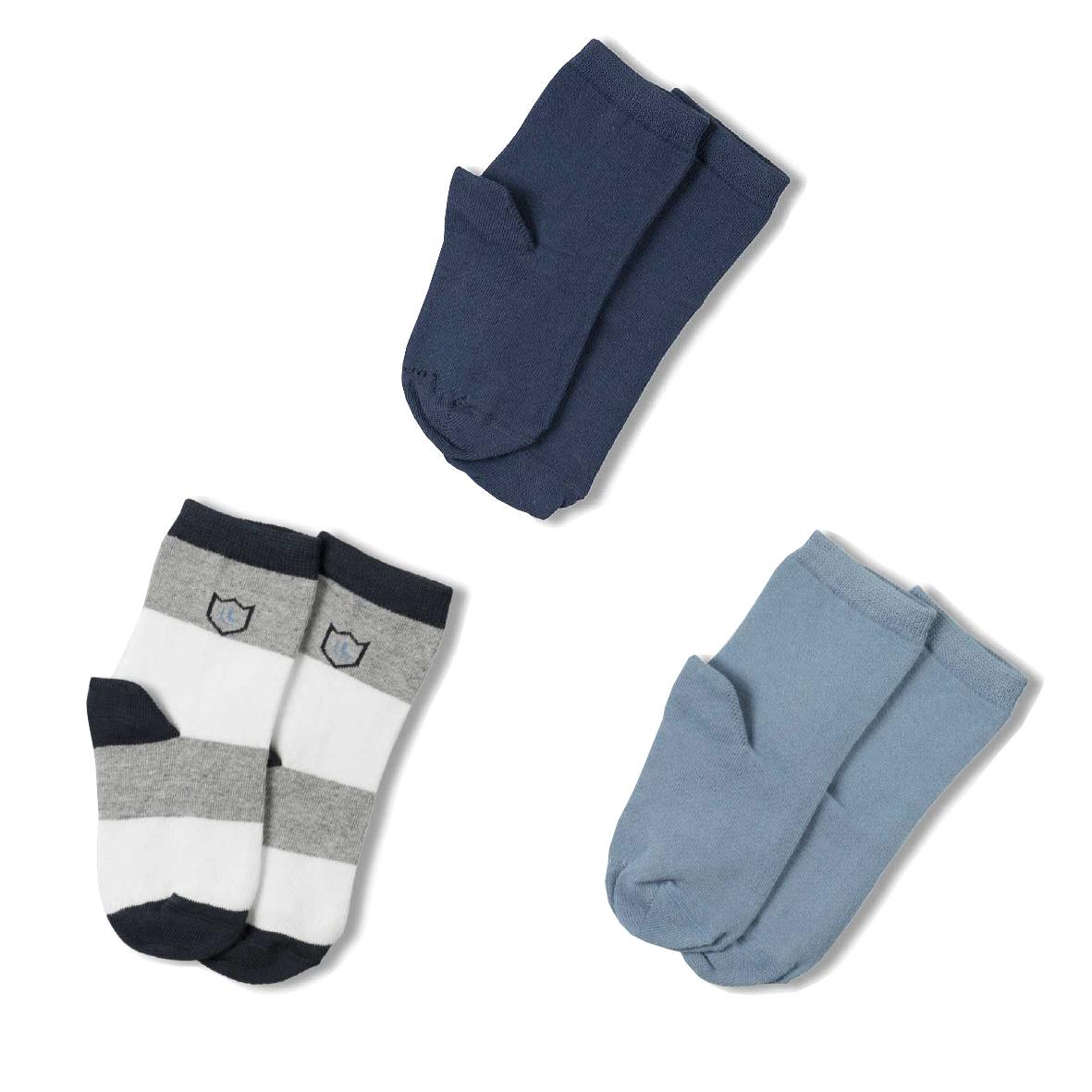 Meia Soquete Kids Meninos Kit com 3 pares (2-5 anos) | LUPO