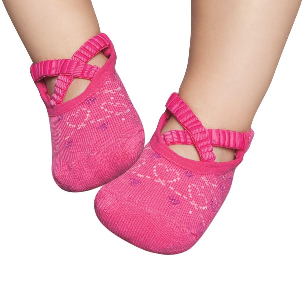 Meia Sapatilha Boneca Ballet Rosa (12-24 meses)   PUKET