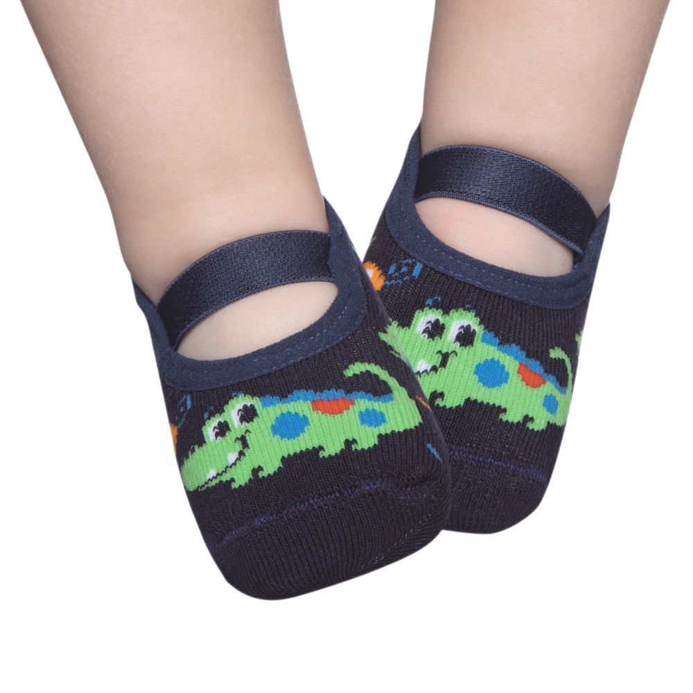 Meia Sapatilha Crocodilo Marinho (2-5 anos) | PUKET