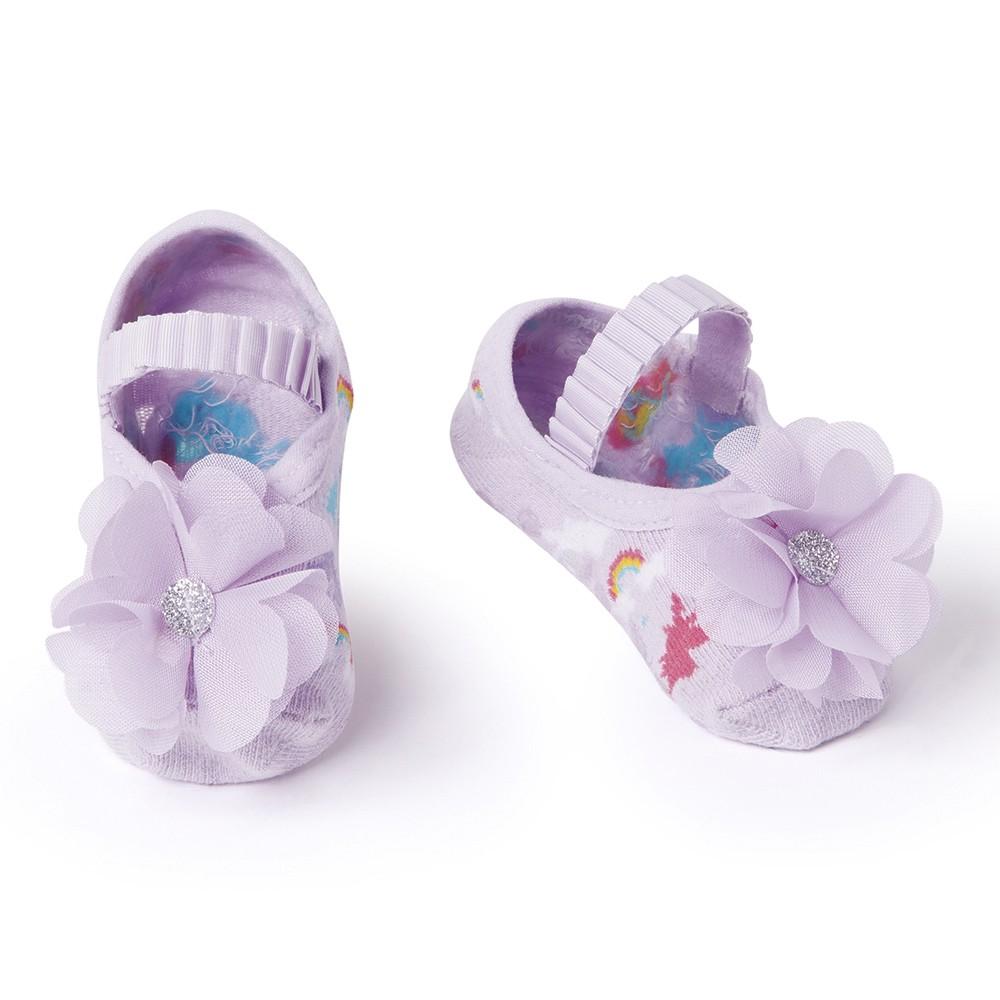 Meia Sapatilha Flor Lilás Lavanda (0-12 meses)   PUKET