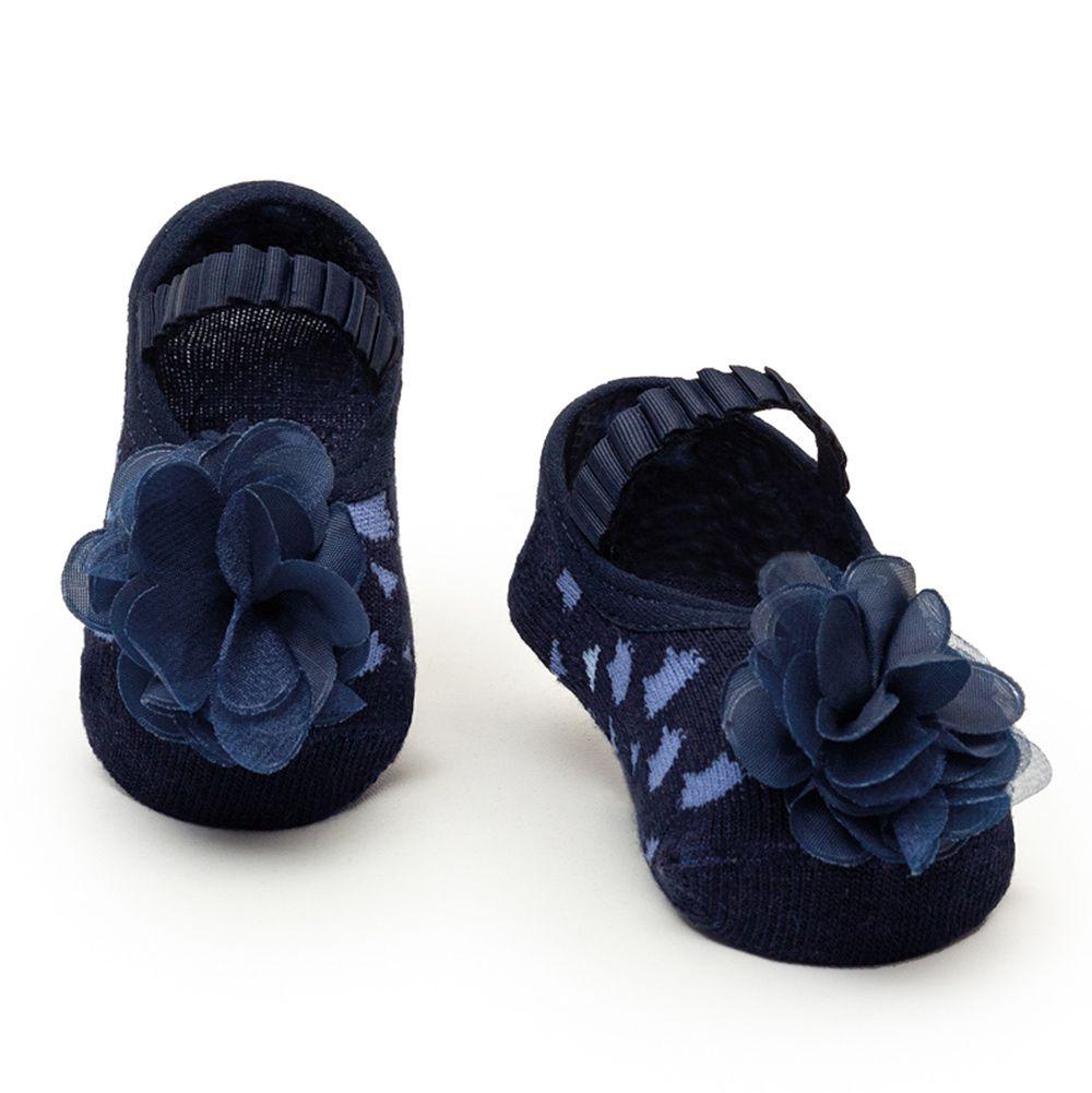 Meia Sapatilha Flor Marinho (0-12 meses) | PUKET