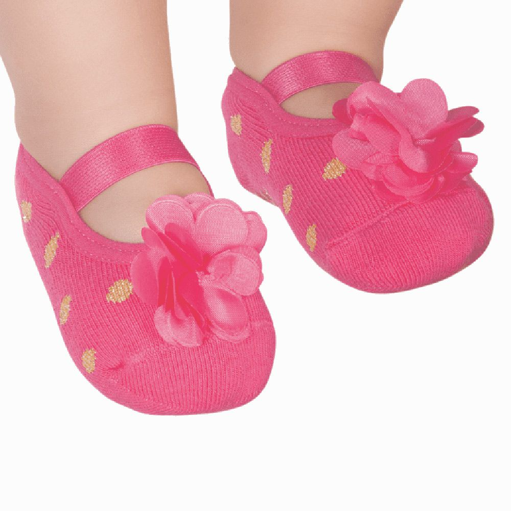 Meia Sapatilha Flor Pink (0-12 meses) | PUKET