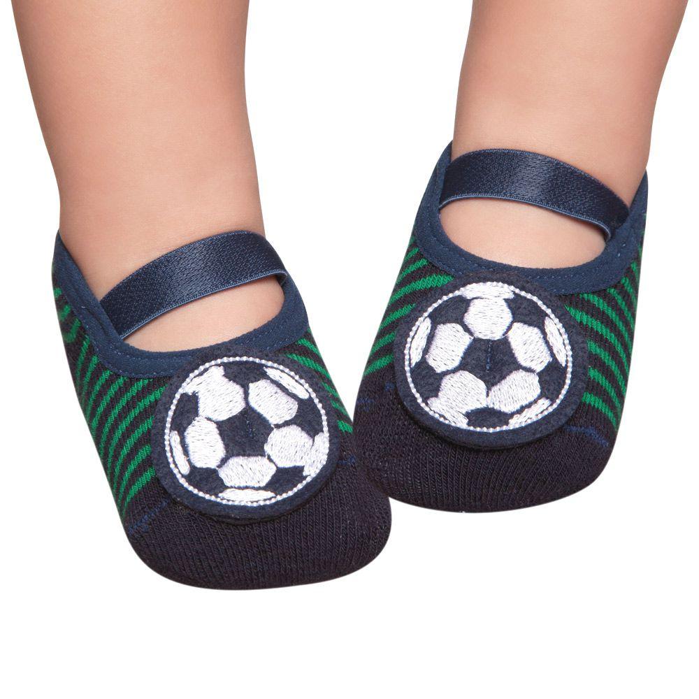 Meia Sapatilha Futebol Verde Marinho (12-24 meses) | PUKET