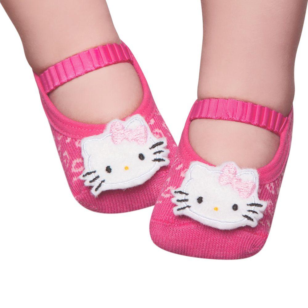 Meia Sapatilha Hello Kitty Pink (0-12 meses)   PUKET
