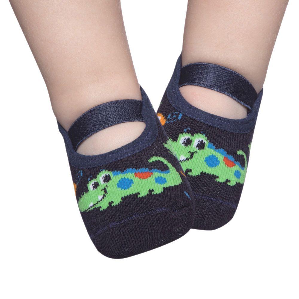 Meia Sapatilha Crocodilo Marinho (12-24 meses) | PUKET