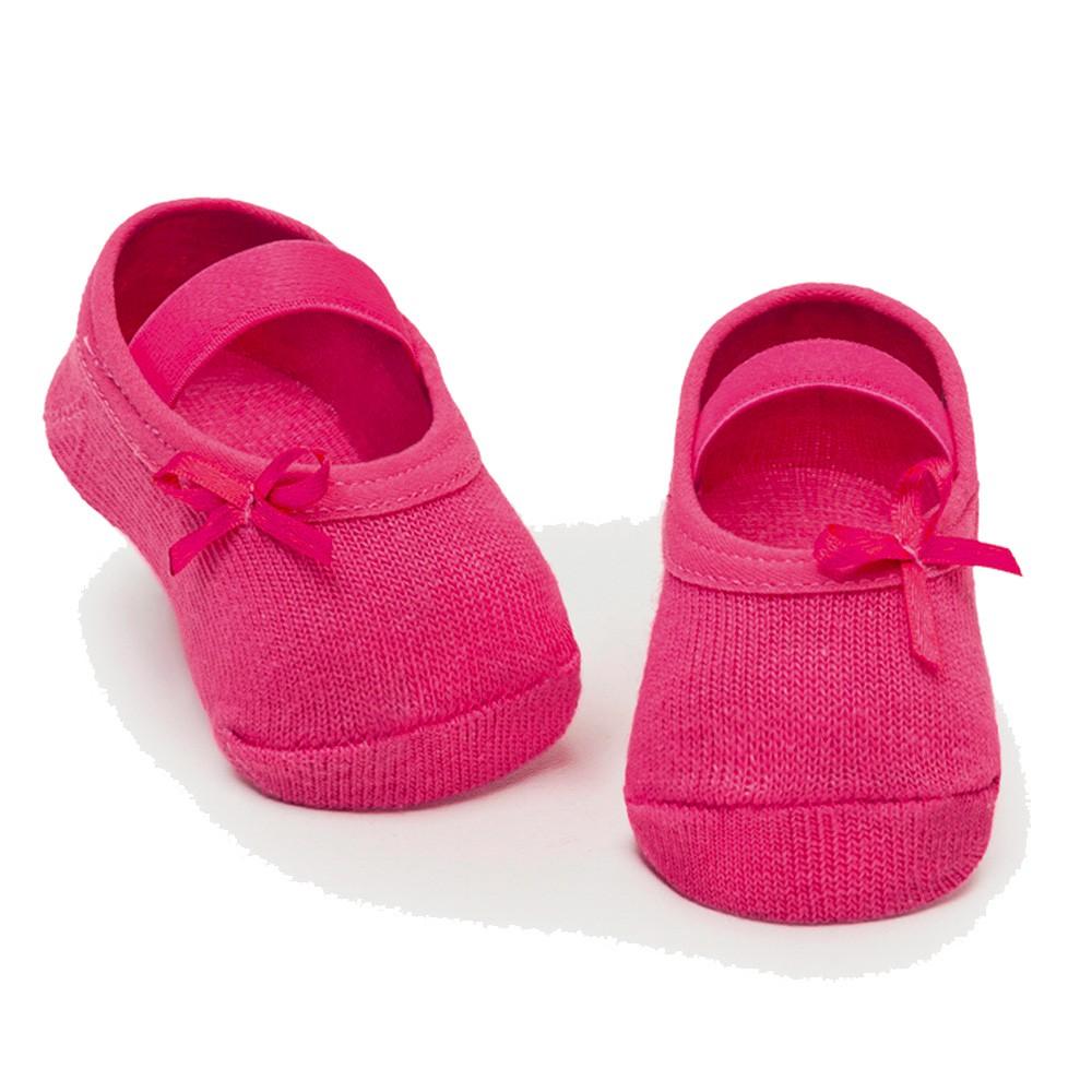 Meia Sapatilha Lacinho Pink (0-12 meses)   PUKET