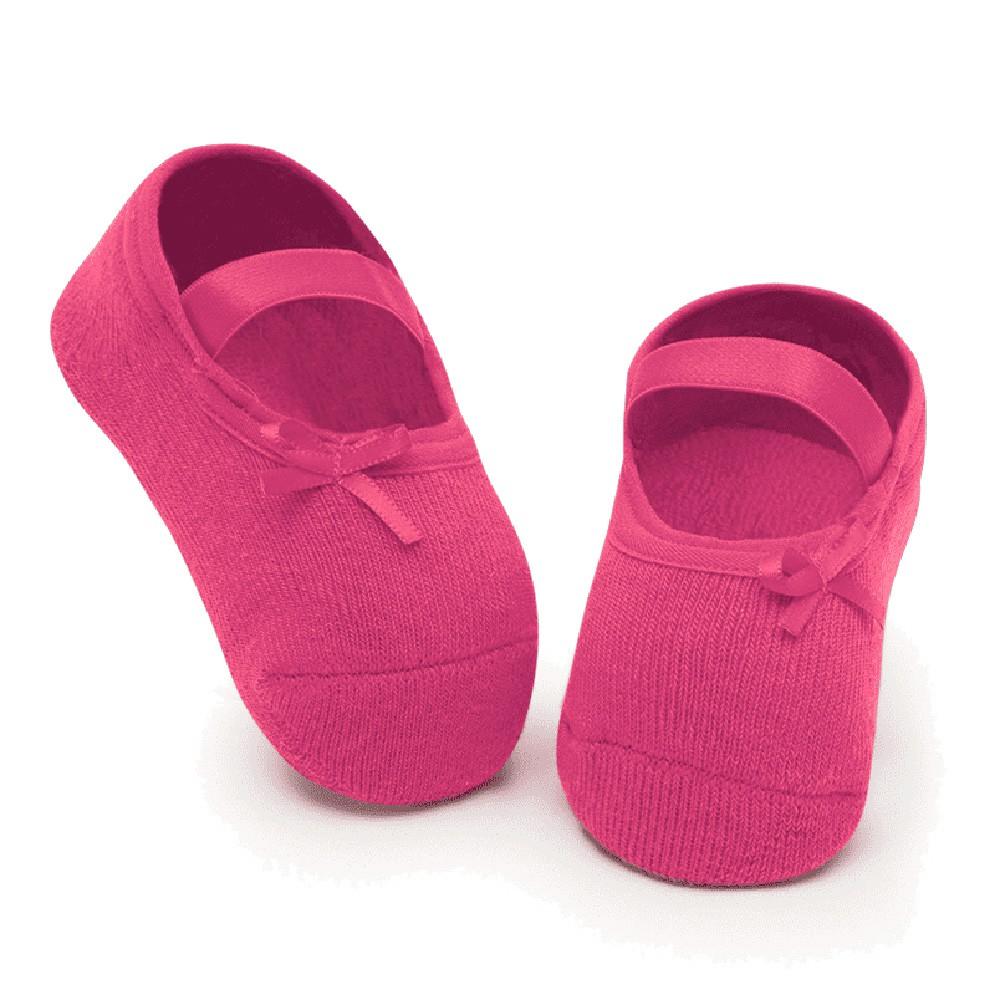 Meia Sapatilha Lacinho Pink (12-24 meses) | PUKET