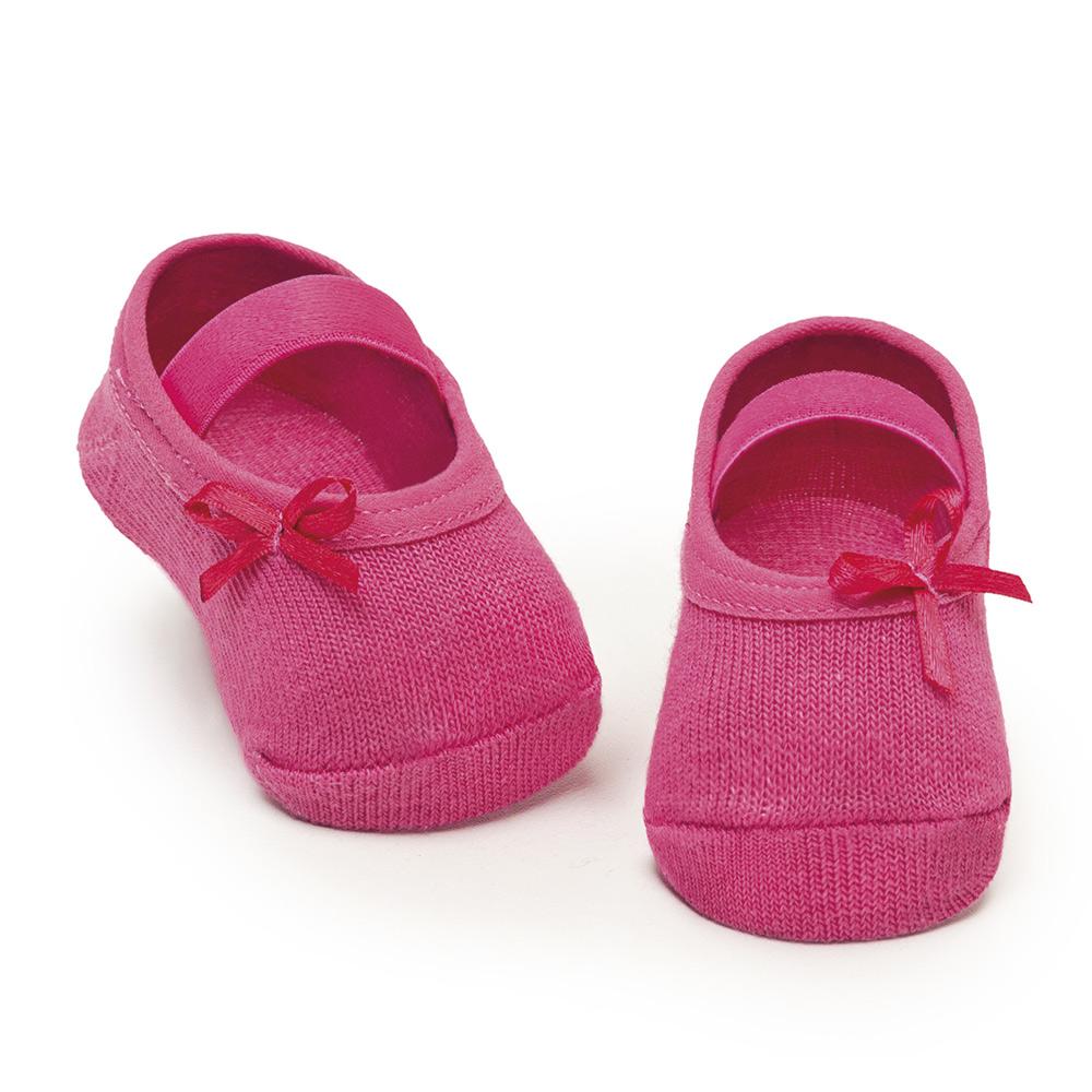 Meia Sapatilha Lacinho Pink 818 (0-12 meses) | PUKET