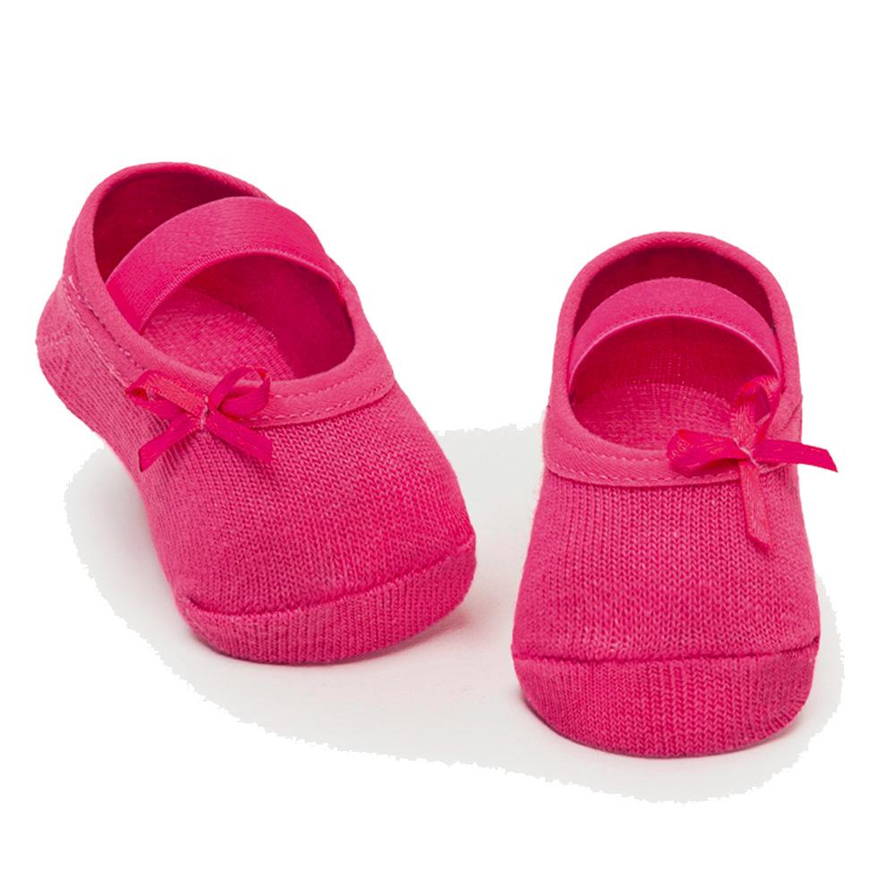 Meia Sapatilha Lacinho Pink (0-12 meses) | PUKET
