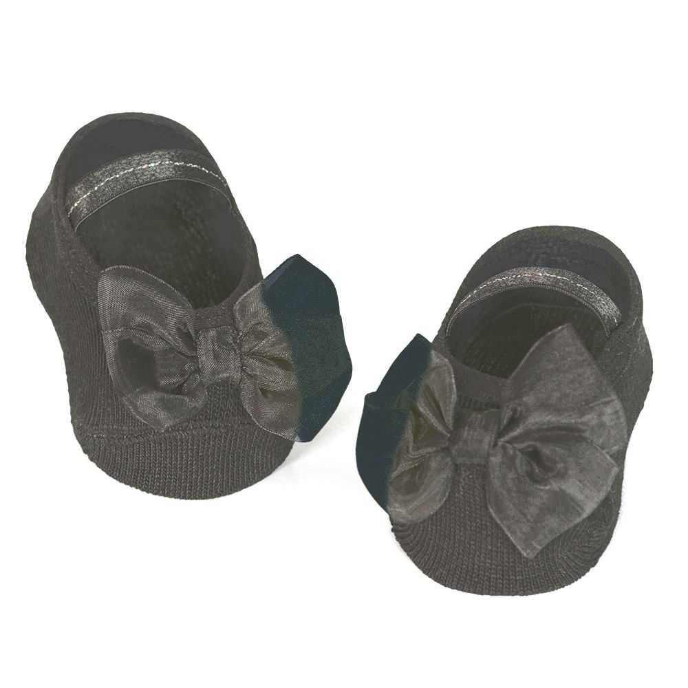 Meia Sapatilha Laço Preto C (0-12 meses) | PUKET