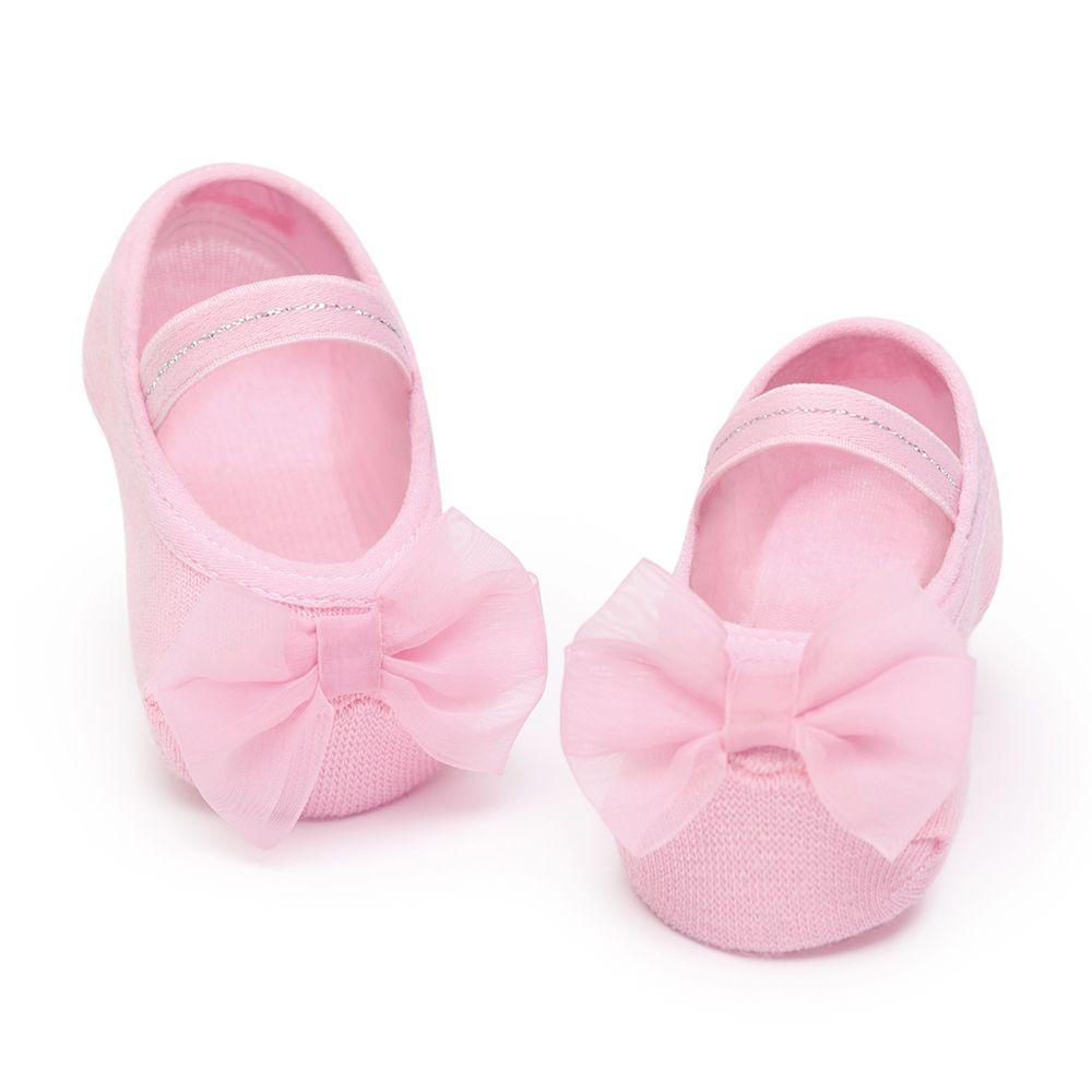 Meia Sapatilha Laço Rosa Bala (0-12 meses)   PUKET