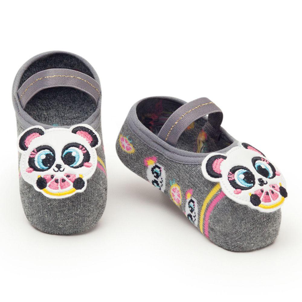 Meia Sapatilha Panda Cinza Mescla (12-24 meses) | PUKET