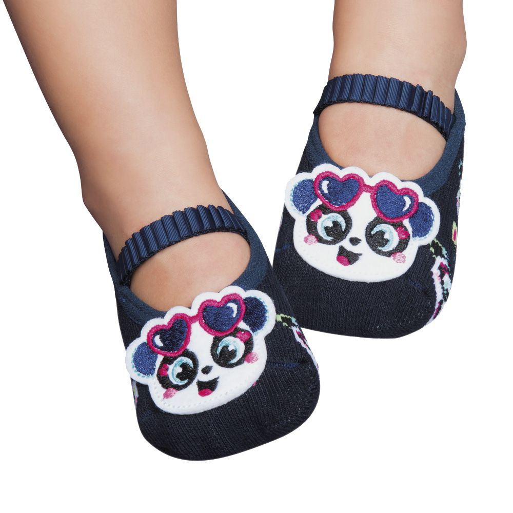 Meia Sapatilha Panda Marinho (2-5 anos) | PUKET