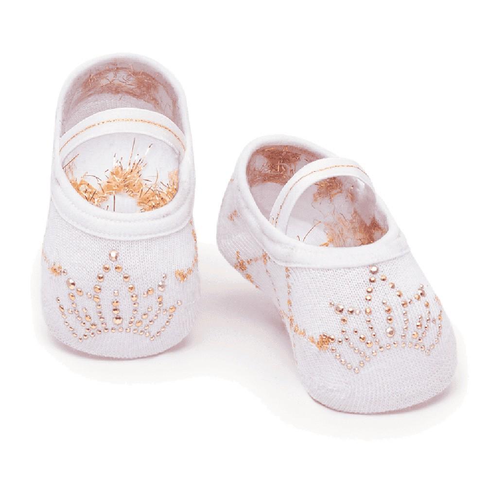 Meia Sapatilha Princess Branco 2 (0-12 meses)   PUKET