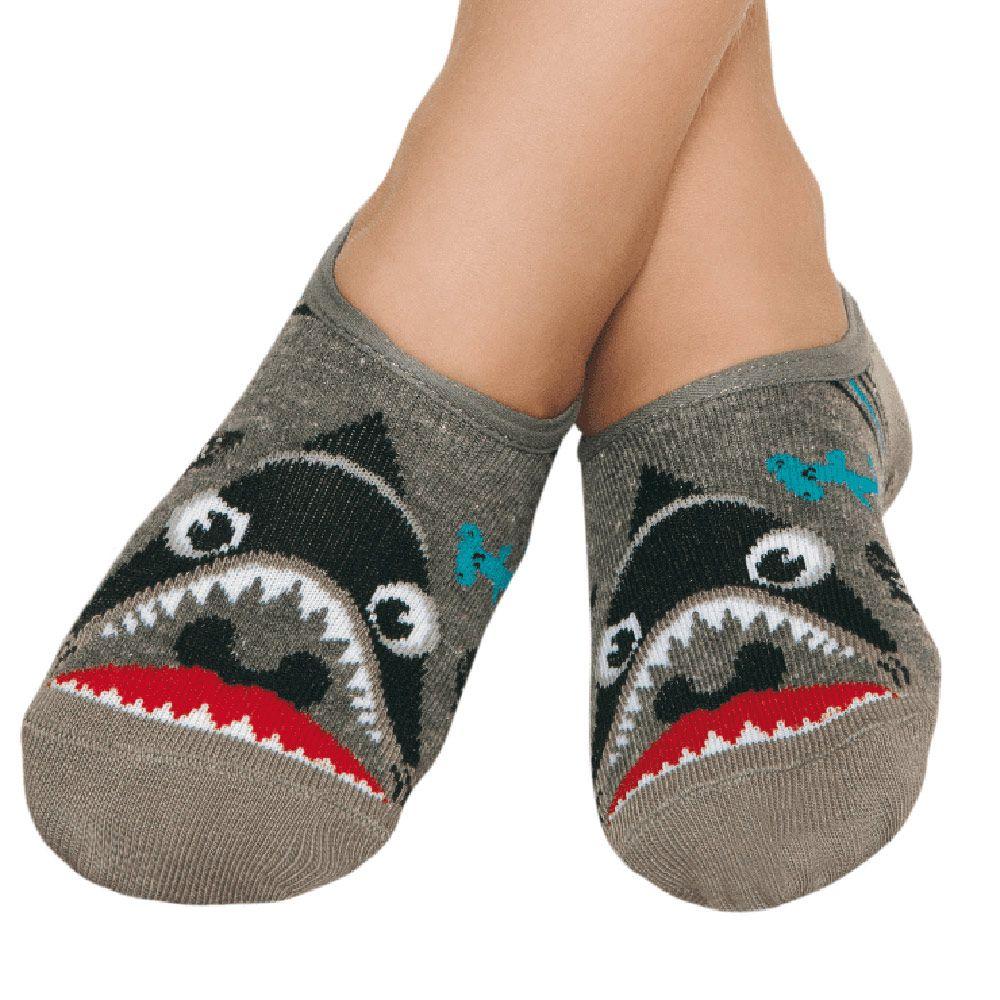 Meia Sapatinho Tubarão Mescla (2-5 anos) | PUKET