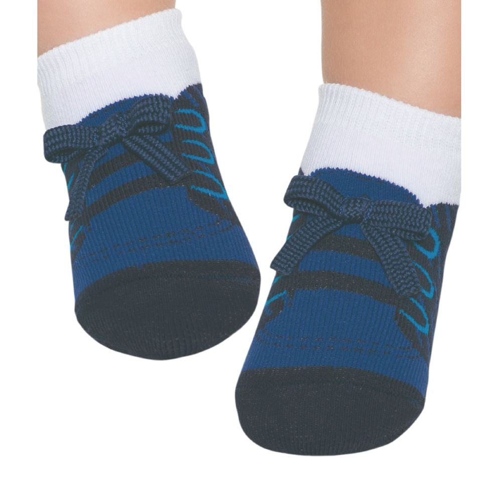 Meia Tênis Antiderrapante Azul Marinho (12-24 meses) | PUKET