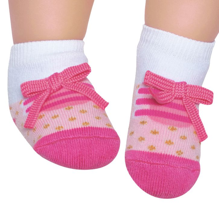 Meia Tênis Antiderrapante Rosa Médio (0-12 meses) | PUKET