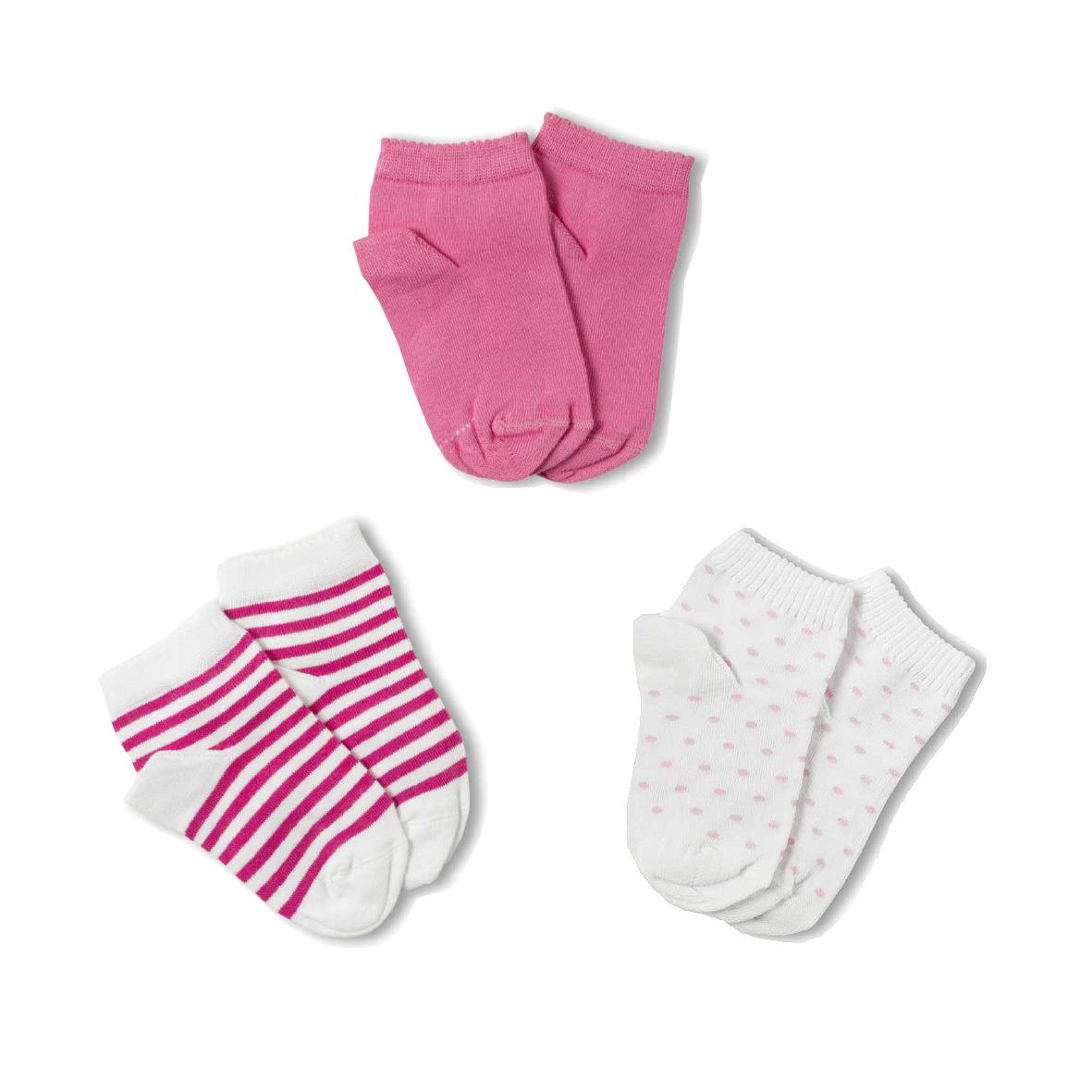 Meias Soquete Kids Meninas Kit com 3 pares (2-5 anos) | LUPO