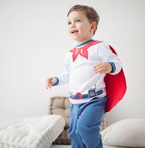Pijama de Suedine Super Herói   PIU-PIU