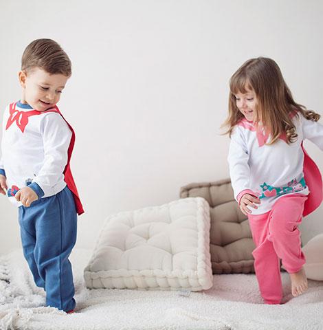 Pijama de Suedine Super Heroína | PIU-PIU