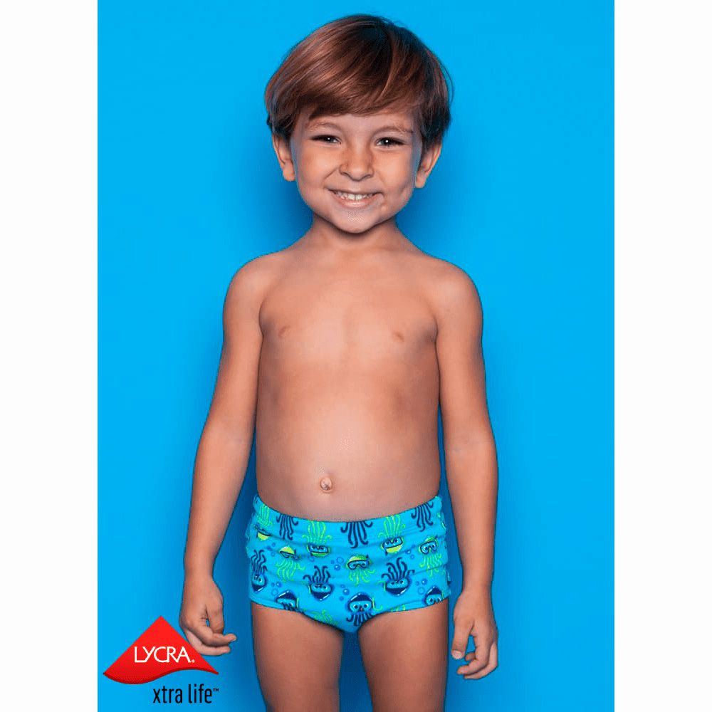 Sunga Kids Água Viva Azul Piscina | PUKET