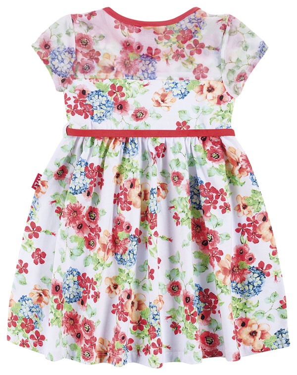 Vestido de Malha Branco Florido | KYLY