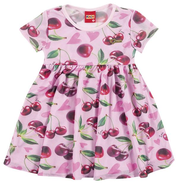 Vestido de Cerejas Rosa | KYLY