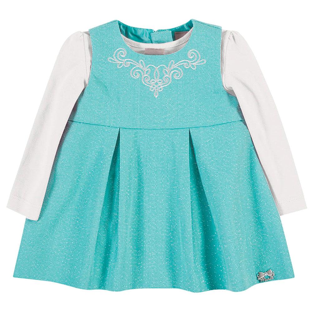 Vestido e Blusinha Manga Comprida de Cotton | BRANDILI