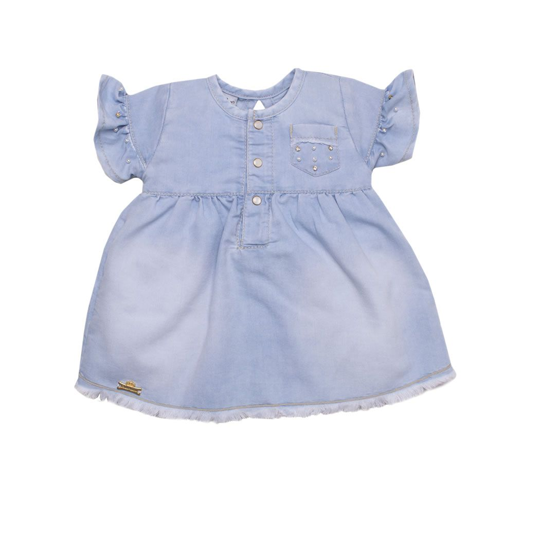 Vestido Jeans Little Girl SM | SONHO MÁGICO