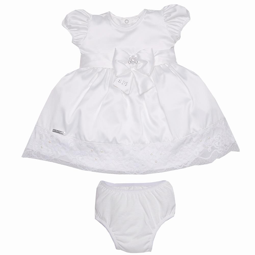 Vestido Tecido Princess Off White | SONHO MÁGICO