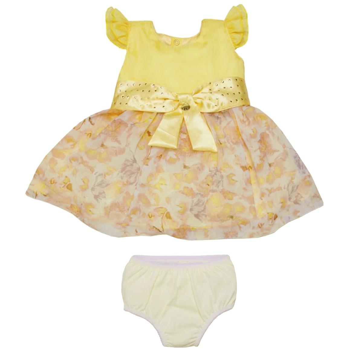 Vestido Tecido Yellow Flowers | SONHO MAGICO