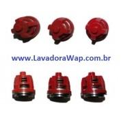 Kit com 6 Válvulas Sucção/Pressão S/P Karcher HD 7/13 Maxi e HD 7/15 Maxi