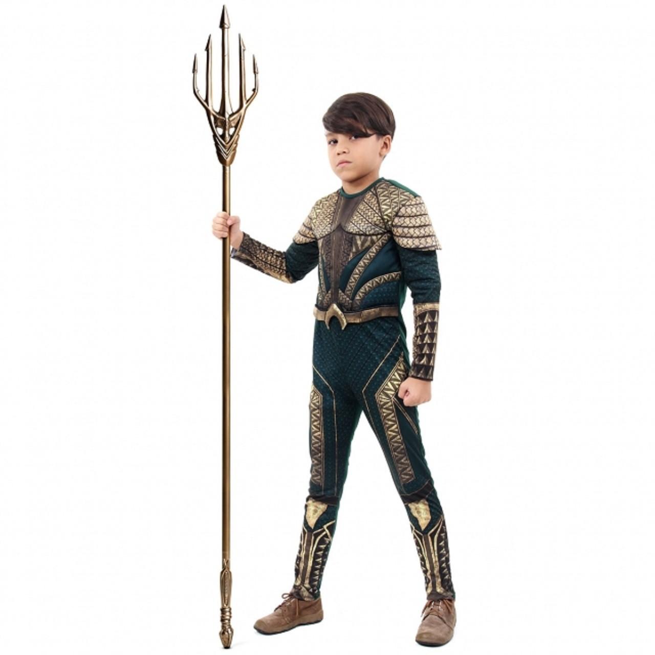 Fantasia Aquaman Infantil Luxo Filme