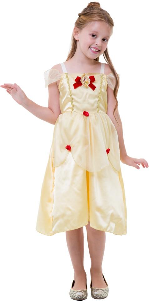 Fantasia Bela Infantil Vestido Bela e a Fera Princesa Disney