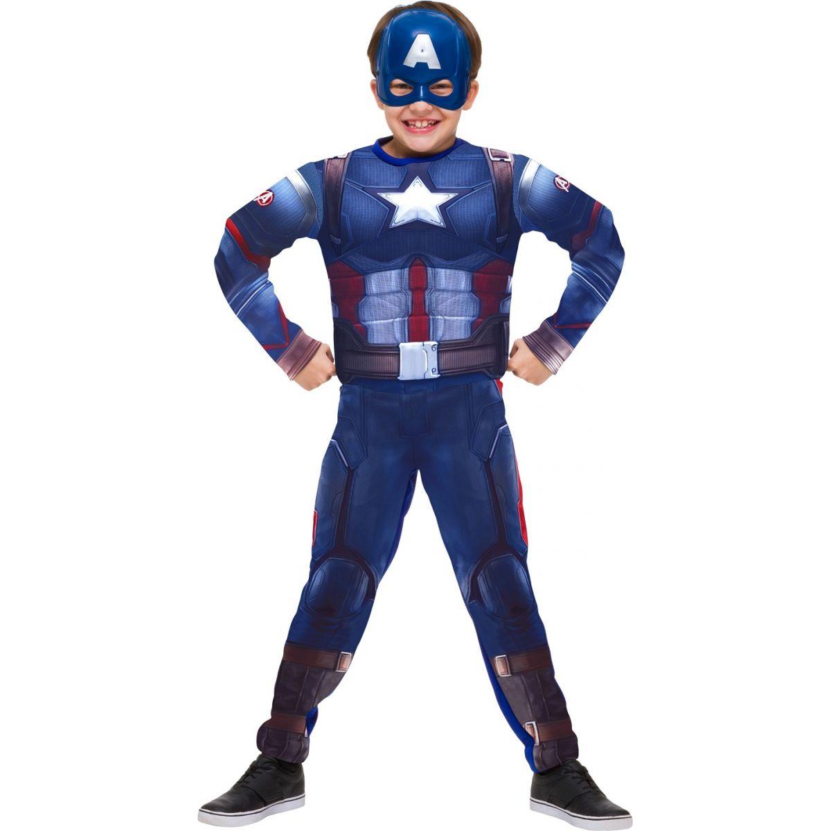 Fantasia Capitão América Infantil Longa